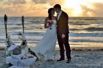 Romantische Strandhochzeit in Florida zum Sonnenaufgang