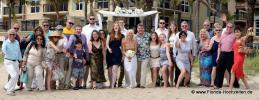 Grosse bunte Hochzeitsgesellschaft in Fort Lauderdale Florida