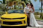 Heiraten in Florida mit gelben Ford Mustang Trauung mit Florida Hochzeiten