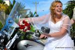 Florida Heavenly Weddings and Motorcyle mit Bride