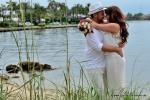 Romantische Zeremonie am Inlet Park mit Meer im Hintergrund