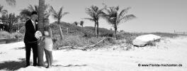 Heiraten in Delray Beach romantisch mit Palmen und Boot