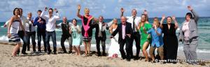 Heiraten in Fort Lauderdale mit grosser Hochzeitsgesellschaft