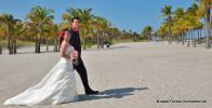 Key Biscayne mit vielen Palmen und Hochzeitspaa