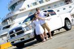 Transfer in Dodge Ram vom Kreuzfahrtschiff