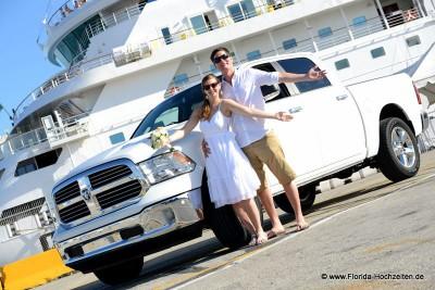 Florida-Hochzeiten und Transfer mit Original USA Dodge Ram