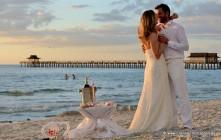 Florida-Hochzeiten Erneuerung des Ehegeloebnisses am Strand