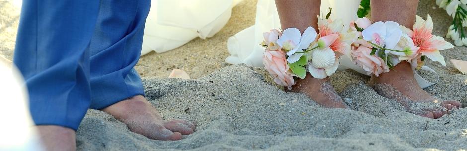 Heiraten in Florida mit Florida Hochzeiten Barfuss am Sandstrand