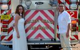Fire Truck und Hochzeitspaar