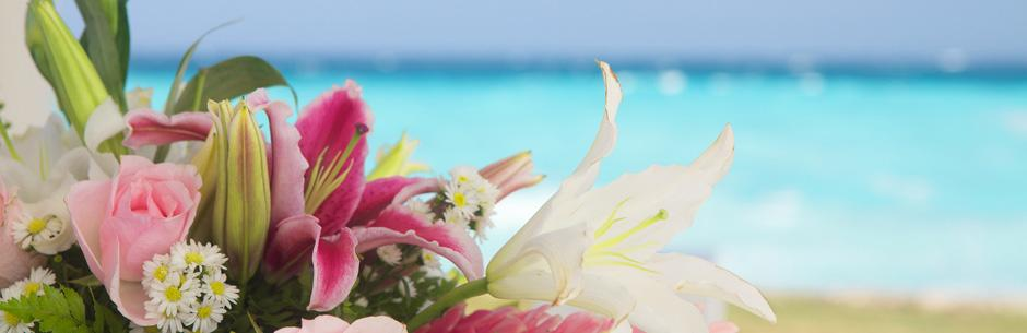 Heiraten in Florida Tropische Blumen am Meer
